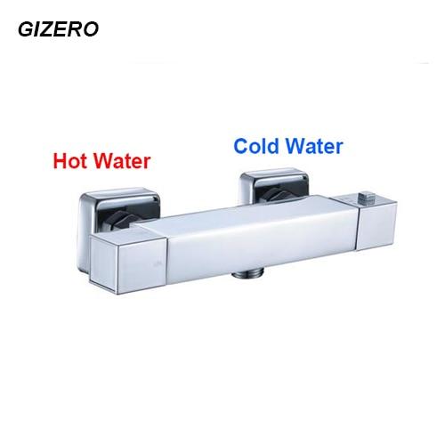 Contemporary Bathroom Shower Faucet Temperature Control