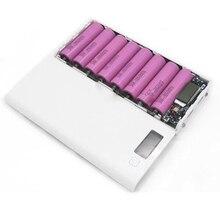 新 DIY 8*18650 ケース電源銀行シェルポータブル Lcd ディスプレイの外部バッテリーなしボックス P0.4