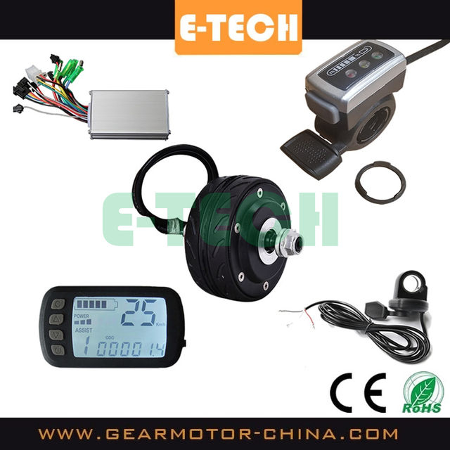 ETECH high quality 4 inch hub motor conversion kit with controller and LCD display