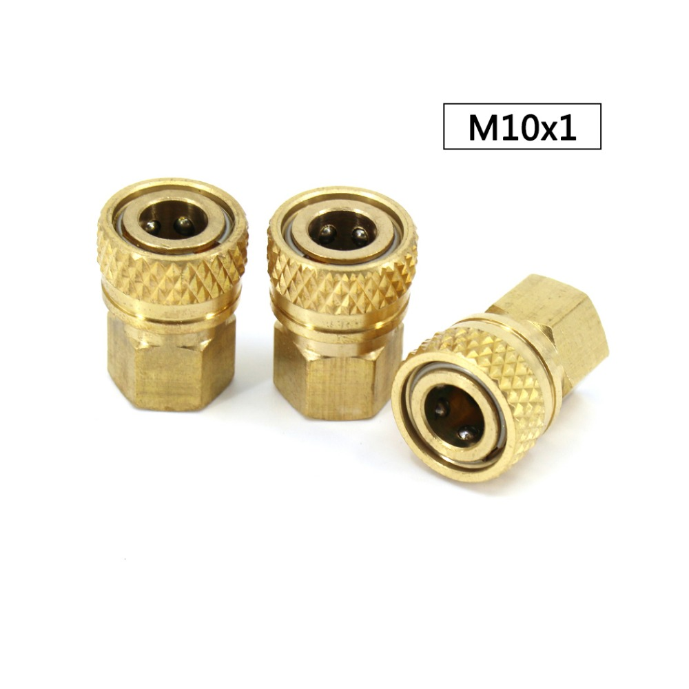 PCP Airforce Paintball Pneumatic M10x1 Female Thread Quick Disconnect Air Refilling Coupler Sockets 8mm Copper Fittings 3pcs/lot