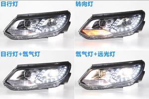 Image 3 - Автомобильный Стайлинг для Tiguan, фасветильник головного света 2009 ~ 2012/2013 ~ 2015 Tiguan светодиодный светильник фасветодиодный, ДХО, биксеноновые линзы, фасветильник дальнего и ближнего света для парковки