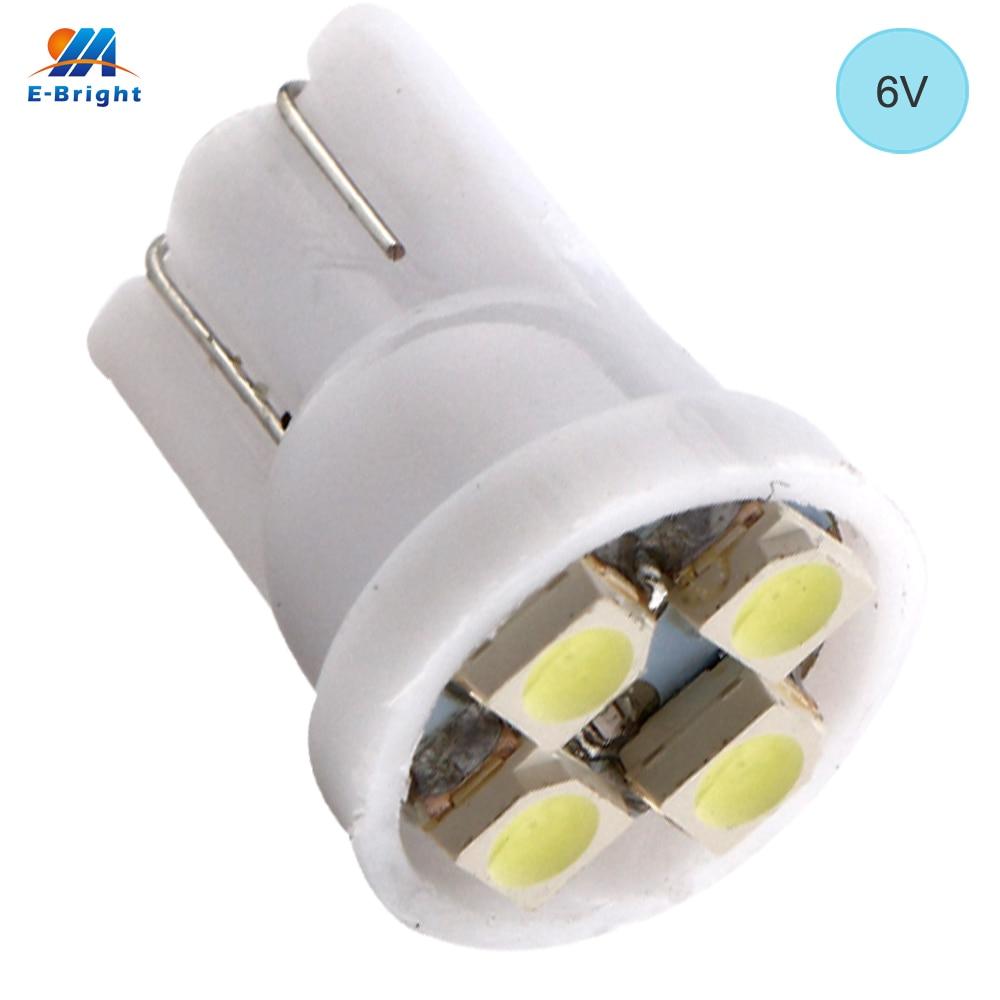 6V 500PCS T10 194 168 1210 4 SMD 4 LED high power LED light Bulbs White