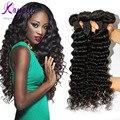 Queen Brazilian Curly Virgin Hair Brazilian Deep Wave Hair Weave 4 Bundles Deep Curly Human Hair Extension Grace Hair Products