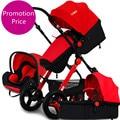 Акция!!! детские коляски автомобиля сиденья и люльки 3 шт./компл. многофункциональный портативный складной детская коляска подвеска пейзаж