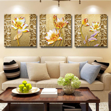 painted flowers canvas wall paintings art oil Modular Pictures modular painting printed on bilder modern deco decoration maison