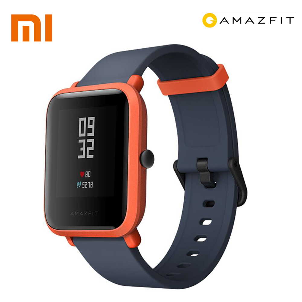 $65-$6 XIAOMI Huami Amazfit Bip Men Bluetooth 4.0 WiFi Smart Watch GPS Gloness Smartwatch IP68 Heart Rate Monitor Smart Watchs