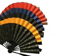 10pcs/lot Free shipping Big Blank White Hand Fans Folding Silk Fabric Wedding Fan 10 inch
