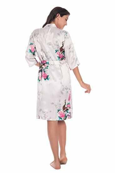 Комплект из 2 предметов для женщин Шелковый Павлин кимоно халаты сексуальное женское белье Свадебная вечеринка подружки невесты халат