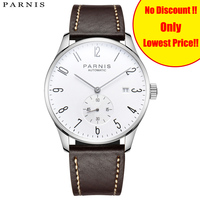 2019 Parnis Mechanical Diver Minimalist Men Watch Luxury Waterproof Wristwatch Automatic Clock Men's Watches Relogio Masculino