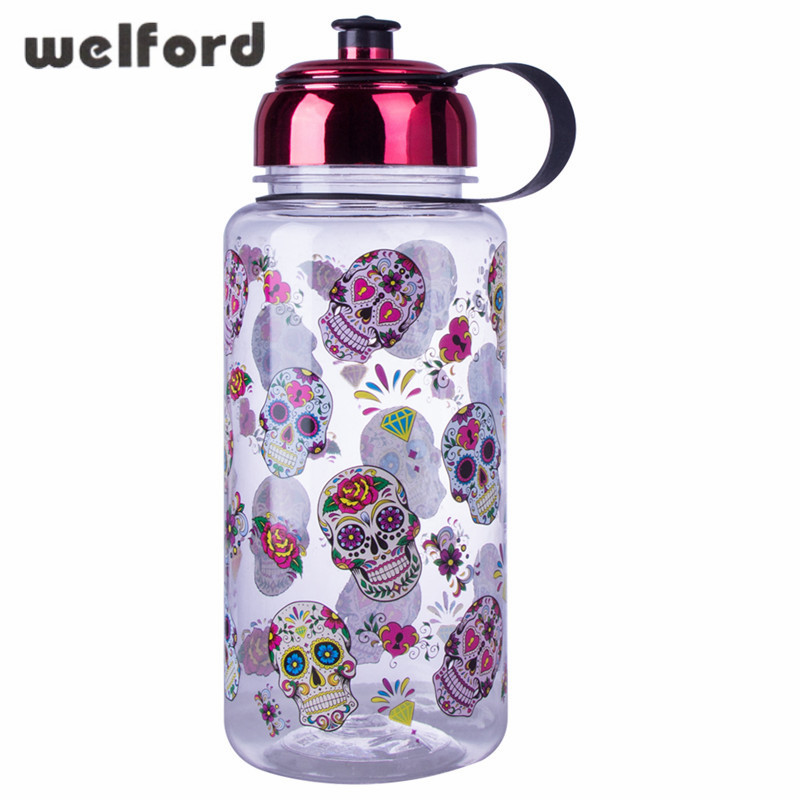 1000ML BPA Free With Rose Gold Lid Tritan Sports Water Bottle Plastic Electroplate Outdoor Camping Large Capacity Kettle