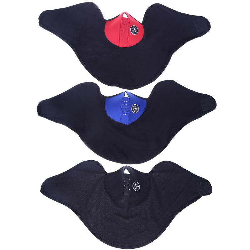 3 Colors Cycling Equipment Face windproof Outdoor cycling mask, riding bicycle Skiing fleece winter warm half face covering