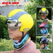 GUB TT Bicycle Helmet Cycling Magnetic Glasses Helmets Ultralight Integrally-molded MTB Road Bike Helmet UV Protection Visor