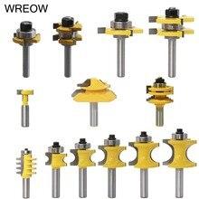 NEW 8mm Round Shank Milling Cutter T-slot Tongue Groove Half Round Glass Rail Stile Router Bits 45° Lock Miter Woodworking Tool цена в Москве и Питере