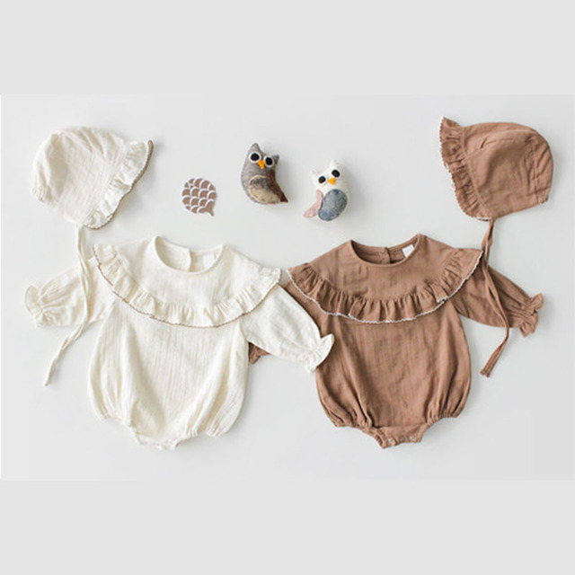 63fb4008d MILANCEL 2019 Spring New Baby Bodysuits Korean Style Infant Girls Bodysuits Long  Sleeve Baby Boys Outfit Cotton Baby Clothes