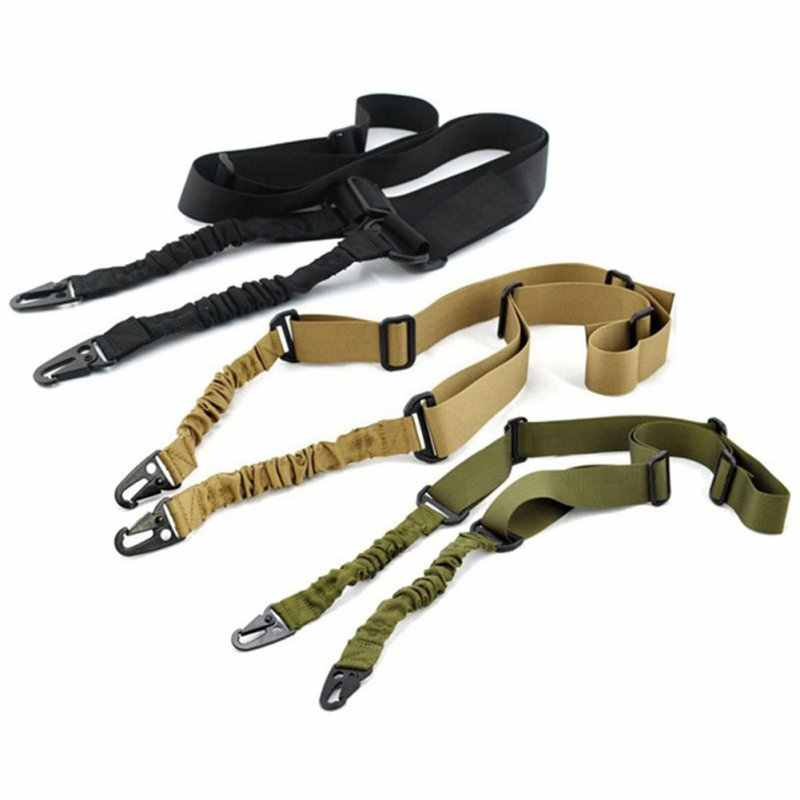 1.4 m Nylon multifunctionele Verstelbare Twee Punt Tactical Rifle Sling Strap Outdoor Airsoft Mount Bungee Systeem Kit