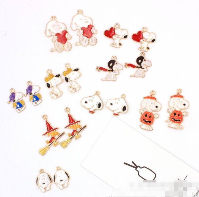 20pcs Japanese anime dog Metal Charm Pendant DIY Necklace Jewelry Making