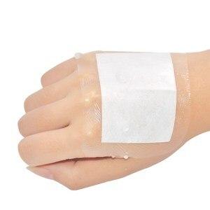 Image 1 - 10 pcs 6X10 cm Estéril Curativo Band Socorros Médicos À Prova D Água Transparente Fita Respirável Umbigo Pasta de Banho band aids Ataduras