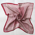 Summer 100% Silk Red Dot Silk Scarf For Women 52*52cm Silk Bag Accessories New Design Autumn Small Square Silk Scarves Printed