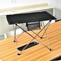 Mesa plegable portátil mesa de Picnic al aire libre mesa de comedor ultraligera negra de alta calidad mesa de Camping 7075 de aleación de aluminio