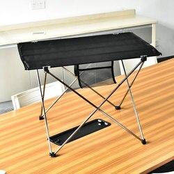Portátil plegable mesa de Picnic al aire libre mesa de comedor Ultralight negro tabla de calificaciones de escritorio de aleación de aluminio de 7075 mesa de Camping