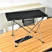 Portable Meja Lipat Piknik Outdoor Meja Makan Ultralight Hitam Kelas Tinggi Meja Meja 7075 Aluminium Alloy Camping Table