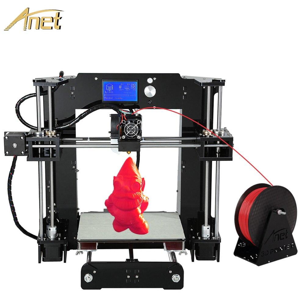 Promoción de la alta calidad de impresión de gran tamaño anet a6 upgrated reprap prusa i3 3d filamentos de impresora kit de bricolaje con el envío