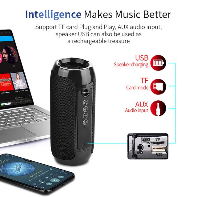 Waterproof Portable Bluetooth Speaker for Car Travel