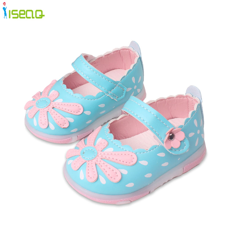 baby leather shoes princess flowers toddlers