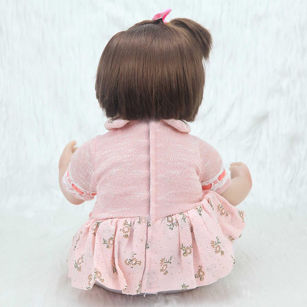 43 centímetros Bebe Reborn Boneca cabelo curto ultra macio vinil silicone brinquedos do bebê presente de Natal surpresa lol brinquedos presente de aniversário