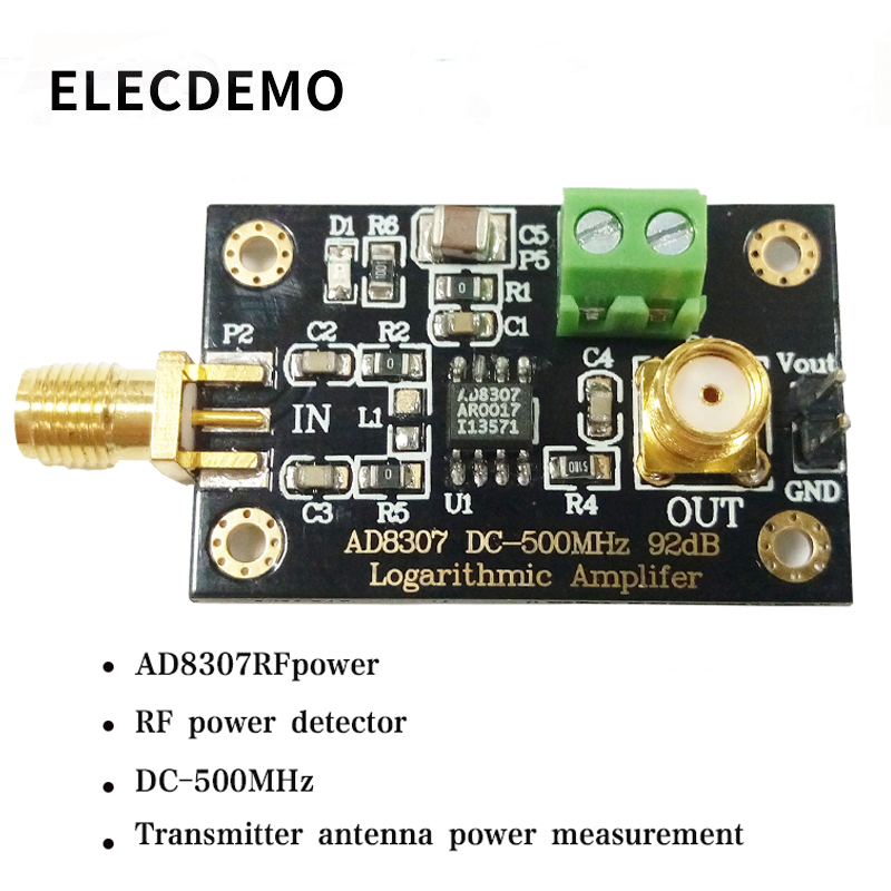 Image 3 - AD8307 module RF Power Detector Module Logarithmic detector Transmitter Antenna Power to 500MHz Function demo board-in Demo Board Accessories from Computer & Office