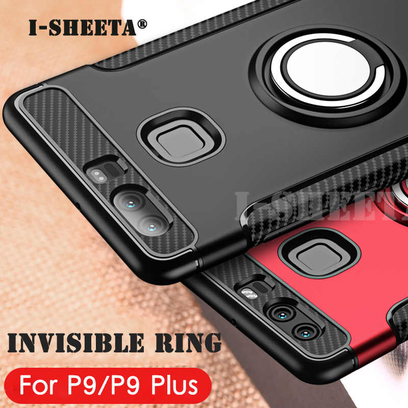 I-sheeta Hybrid Case For Huawei P9 Case Ring Holder Shockproof TPU+PC Cover For Huawei P9 Plus p9plus Phone Cases Fundas Capa