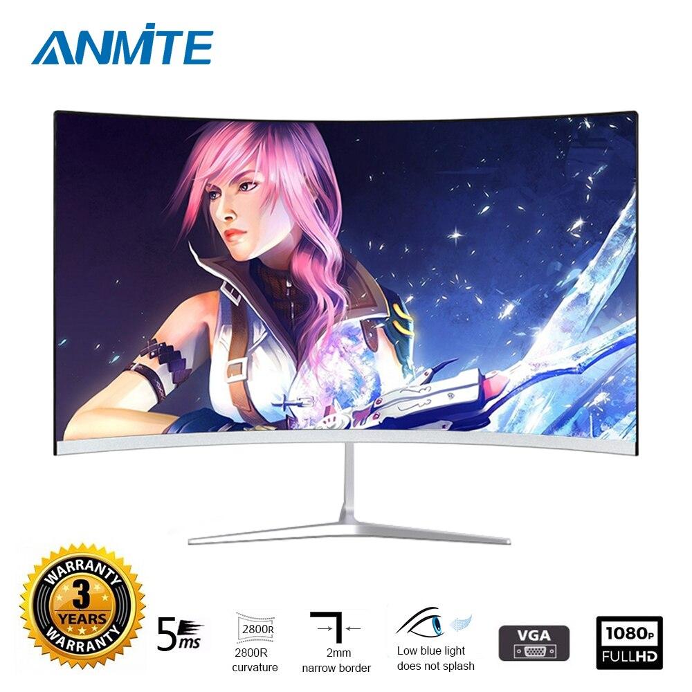 Anmite 23.8 pouces FHD Hdmi HDR incurvé TFT LCD moniteur jeu de jeu concurrence Led écran d'affichage d'ordinateur HDMI/VGA - 2