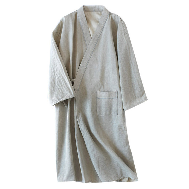 Cotton Gauze Kimono Men Bathrobe Soft Lightweight Yukata Men Peignoir Dressing  Gown for Men 22a3953a5