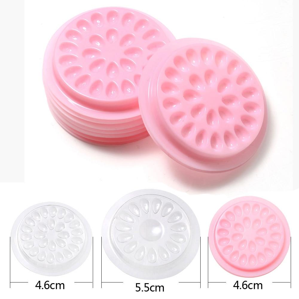Wholesale false eyelashes Glue Holder eyelash extension supplies eye lashes Glue tools Lashes Extension Pallet Pads Plastic-in False Eyelashes from Beauty & Health