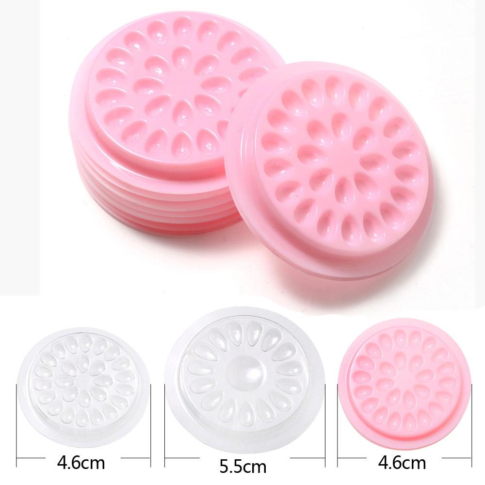 Wholesale false eyelashes Glue Holder eyelash extension supplies eye lashes Glue tools Lashes Extension Pallet Pads Plastic