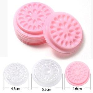 Image 1 - Wholesale false eyelashes Glue Holder eyelash extension supplies eye lashes Glue tools Lashes Extension Pallet Pads Plastic