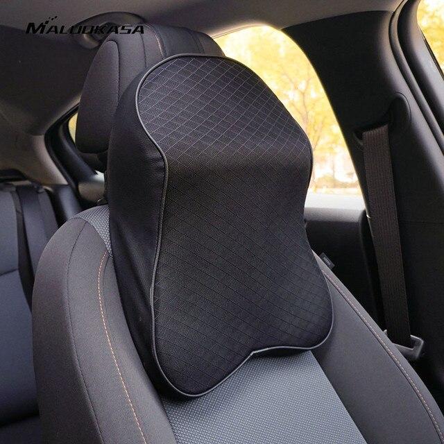 Araba boyun yastık 3D bellek köpük baş dinlenme ayarlanabilir otomatik kafalık yastık seyahat boyun yastık destek tutucu koltuk yastığı