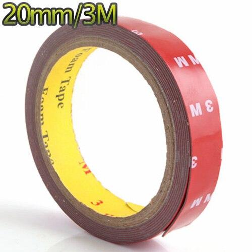 Práctica cinta adhesiva de espuma acrílica automática de doble cara 20mm 3M #3845 Máscara de Gas de aerosol de pintura de doble uso igual para 3M 6800 máscara de cara completa pieza respirador industrial