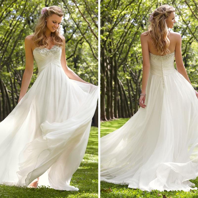 Designer superior flowing chiffon beach wedding dress in for Flowing beach wedding dresses