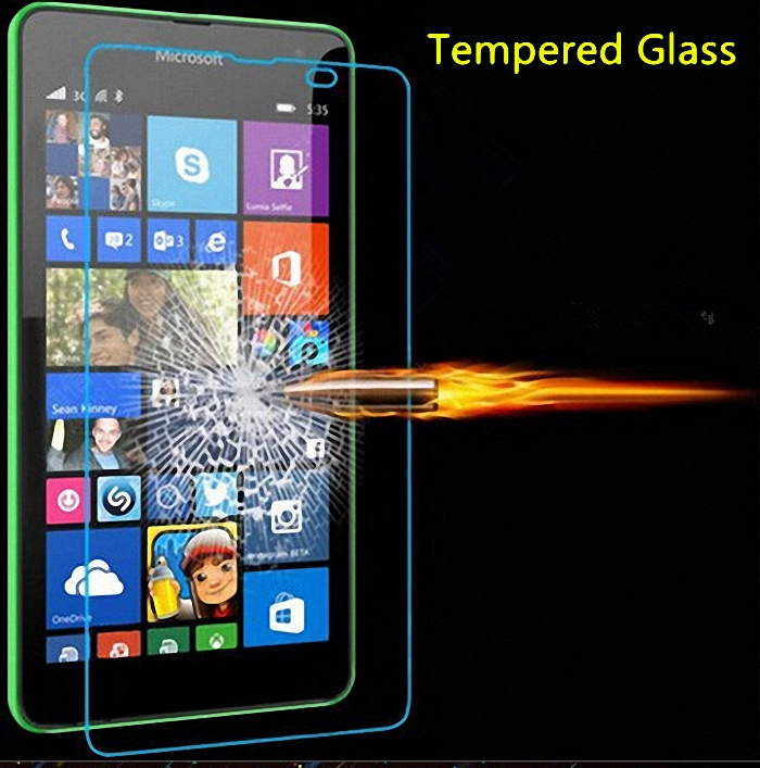 Tempered Kaca Screen Protector untuk Microsoft Nokia Lumia 430 435 532 540 550 640 XL 650 1020 1320 1520 950 X X2 XL KACA Film