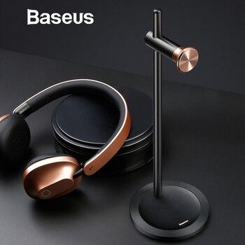 Baseus Adjustable Headphone Holder Fashion Design Metal Texture Headphone stand Earphone Headset desktop Stand hanger Earphone Accessories