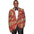 Los hombres chaqueta de traje de moda personalizada diseño xquisite mens áfrica africano imprimir blazers para el festival/el partido/de la boda