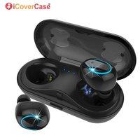 TWS Bluetooth Earbuds for Huawei Y9 Y7 Y6 Pro Y5 Prime Y3 II 2018 2017 P Smart 2019 Nova 4 3 3i 2 Wireless Earphone Charging Box