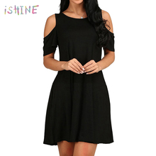 3c8f2ea20b7ab Buy cold shoulder skater dress and get free shipping on AliExpress.com