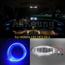 For HONDA CRZ CR Z CR-Z Metal head 12V High power guide Fiber optic lights Car interior Decoration Atmosphere lights Four lamp