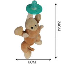 Newborn Silicone Babies Pacifiers Nibbler Animal Plush Nipple Soother Toys Boy Clips Chain Wubbanub Girl Toy Baby Pacifier Clip