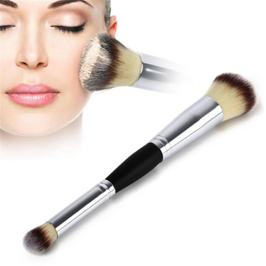 OutTop best seller Makeup Cosmetic Brushes Contour Face Blush Eyeshadow Powder Foundation Tool Two-in-one makeup brush cX30 4 20
