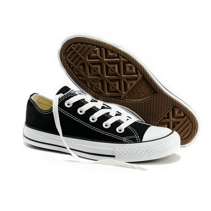 e412257a61dc45 ... Original new Converse all star canvas shoes men s sneakers for men low  classic Skateboarding Shoes black