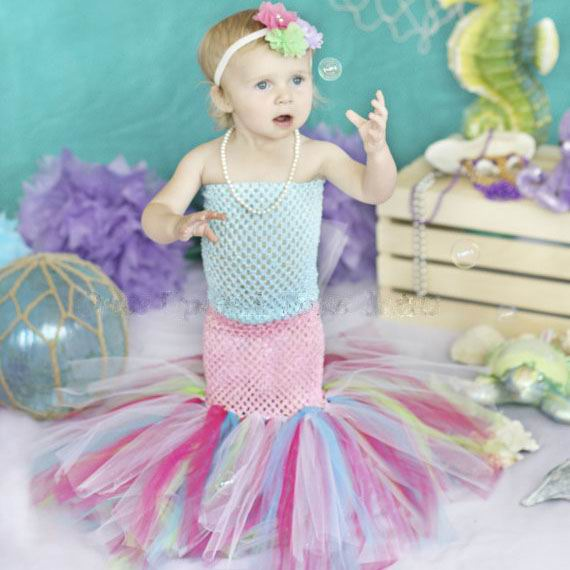 Retail 2016 New Girl Mermaid Princess Dress Cosplay perform Colorful Gauze TUTU Dress 13787 Free Headband 17 Color вечернее платье mermaid dress vestido noiva 2015 w006 elie saab evening dress