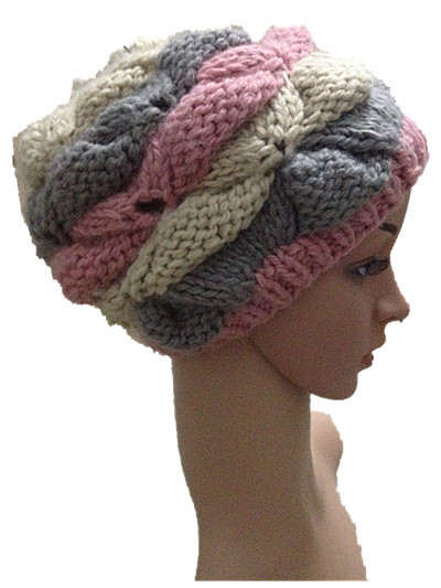 BomHCS Autumn winter pure handmade knitted hat warm women beanies hats caps